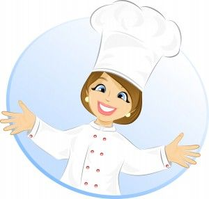 Cute chef woman clipart svg free library Free Cartoon Girl Chef | Cook- vector illustration | Illustration ... svg free library