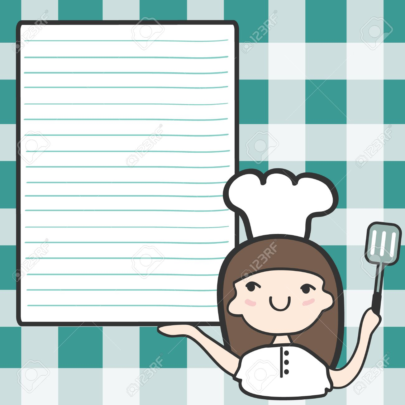 Cute chef woman clipart image royalty free stock Cute Girl Chef With An Empty Space, Cartoon Illustration Royalty ... image royalty free stock