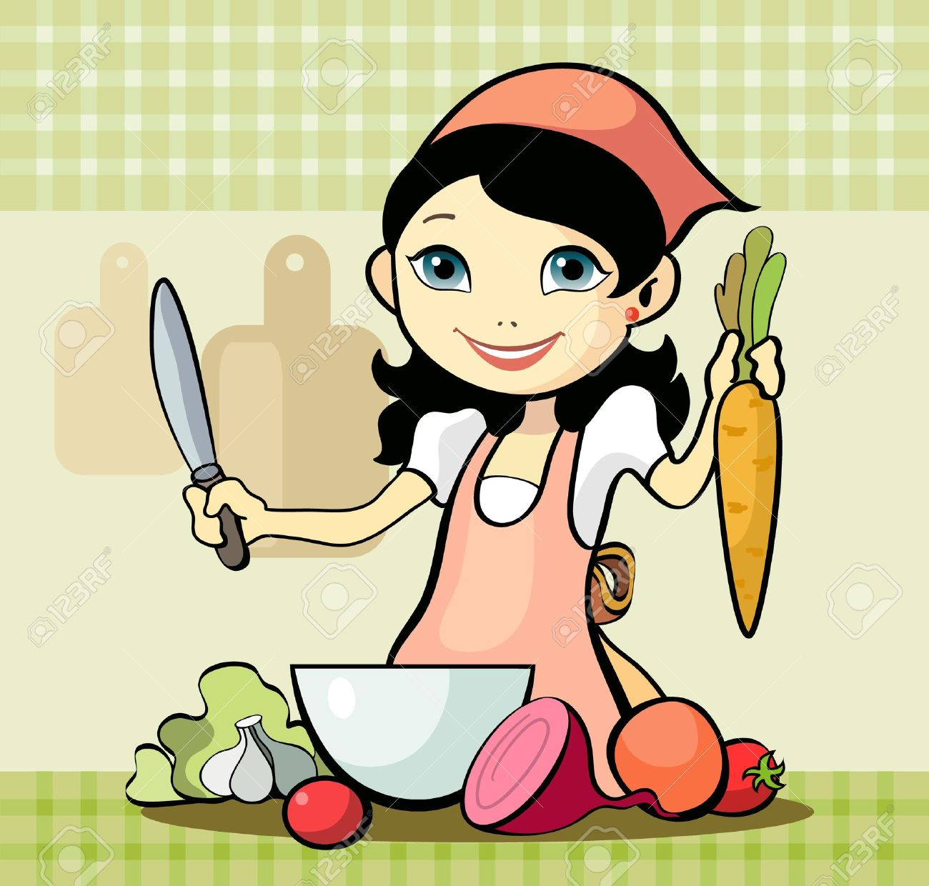 Cute chef woman clipart banner transparent stock 6,715 Chef Woman Cliparts, Stock Vector And Royalty Free Chef ... banner transparent stock