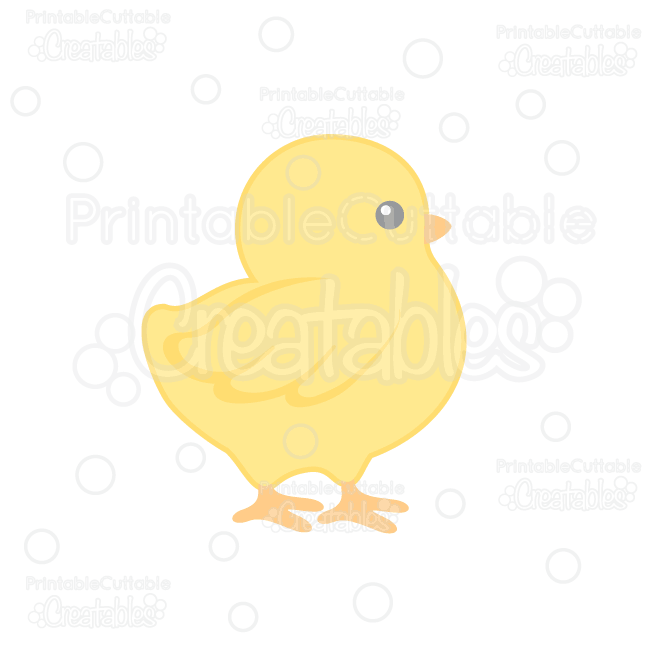 Cute chick clipart picture free Cute Chick SVG Cut File & Clipart for Silhouette Cameo, Cricut Explore picture free
