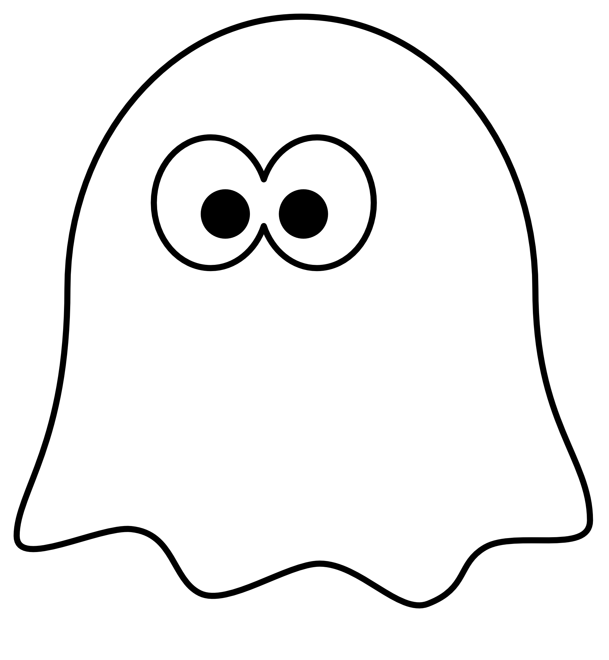 Ghost black and white. Cute christmas owl clipart