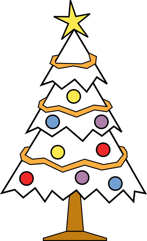 Funky christmas tree clipart clipart royalty free download Christmas Tree Clipart Coloring Page - Mocape.org clipart royalty free download