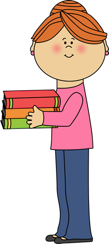 Teacher images holding books. Cute clip art for teachers