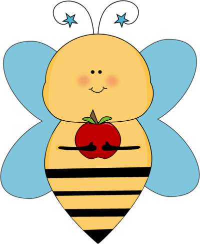 Cute clip art for teachers. Bee clipart kid blue