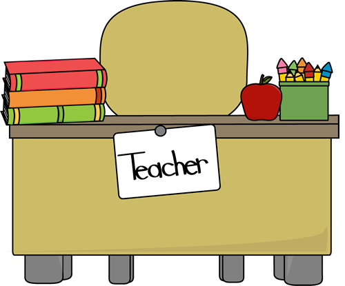 Cute clip art for teachers. Teacher images desk
