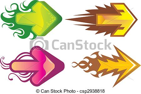 Cute clipart arrow png library stock Vector of arrows - cute arrows csp2938818 - Search Clip Art ... png library stock