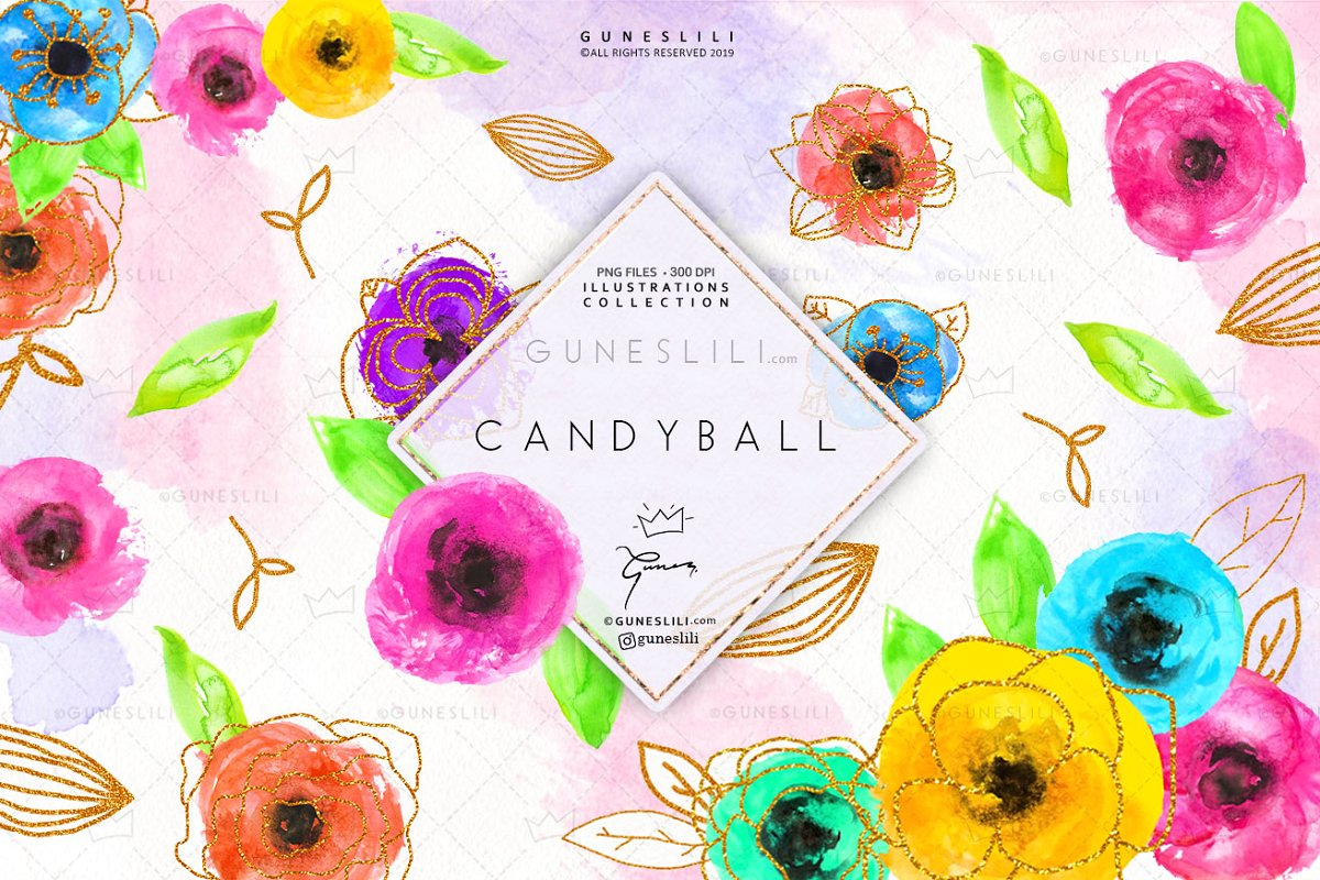 Cute clipart flowers graphic freeuse Candy Ball Cute Flowers Clipart graphic freeuse