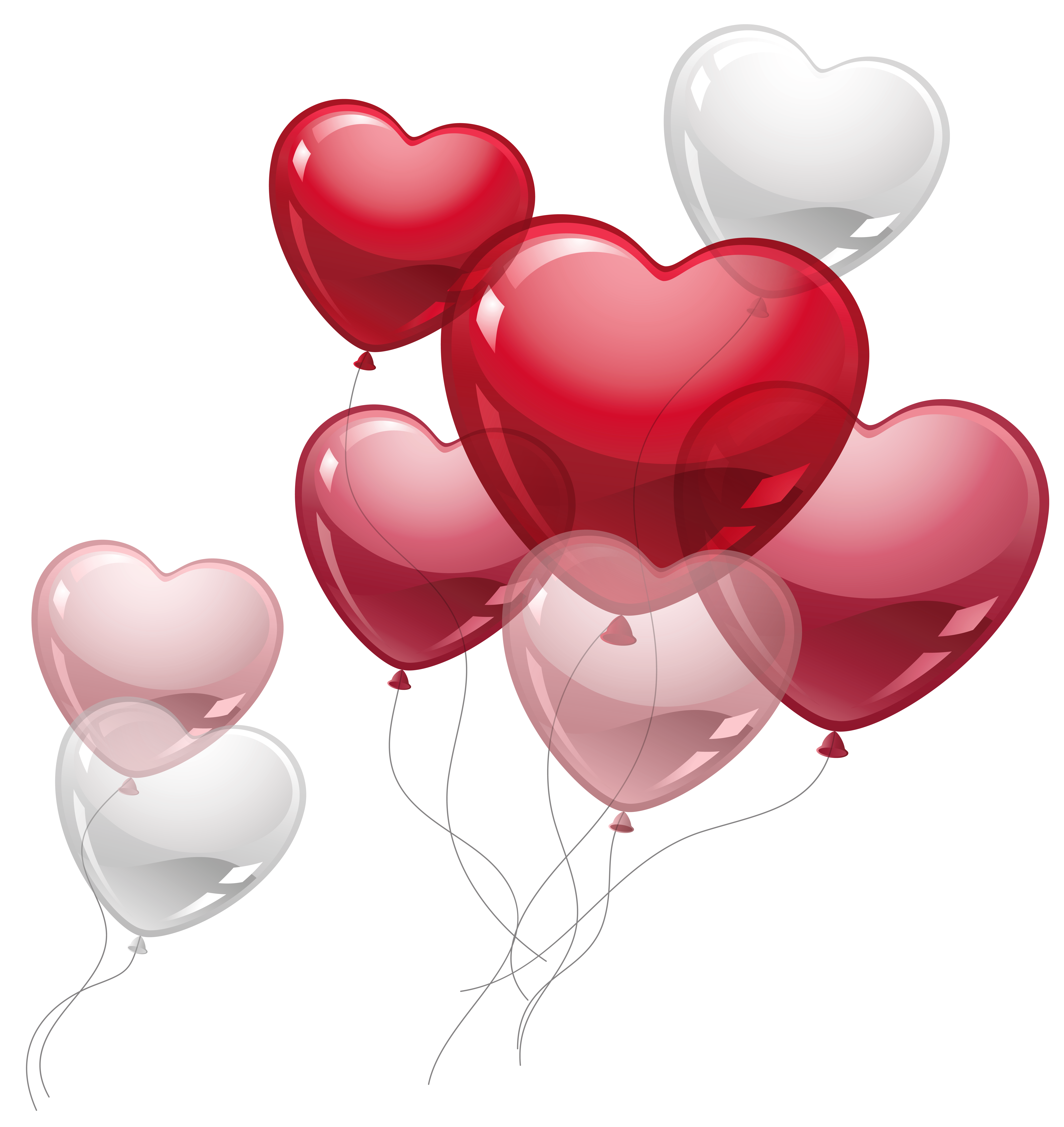 Cute clipart heart picture transparent library Cute Heart Balloons PNG Clipart Picture | Gallery Yopriceville ... picture transparent library