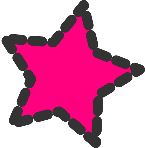 Cute clipart star. Pink dotted clip art