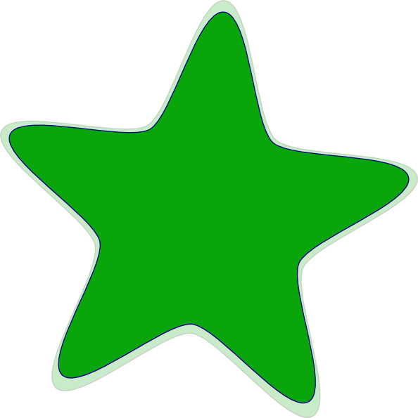 Star clipart vector jpg black and white download Green Star Clip Art at Clker.com - vector clip art online, royalty ... jpg black and white download