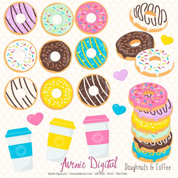 Cute cliparts for scrapbook clipart royalty free stock Donut And Coffee Clipart Scrapbook Printables Doughnuts Clip Art ... clipart royalty free stock