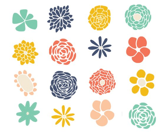 Cute cliparts for scrapbook picture free download Clipart Sale 60% off, Flower Doodle Clipart, Digital Design, Cute ... picture free download