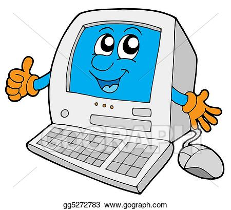 Cute computer clipart clip library library Stock Illustrations - Cute small computer. Stock Clipart gg5272783 ... clip library library