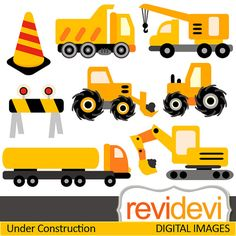 Cute construction site clipart picture free library Construction vehicle cliparts. These cute digital images are great ... picture free library