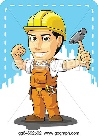 Cute construction site clipart jpg transparent EPS Vector - Cartoon of industrial construction . Stock Clipart ... jpg transparent