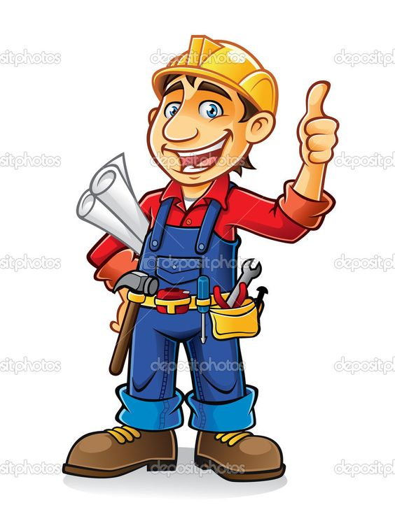 Cute construction site clipart jpg royalty free library Cartoon Construction Worker Clip Art | Construction worker - Stock ... jpg royalty free library