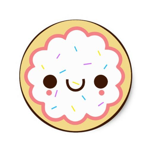 Cute cookie clipart image stock Sugar Cookie Clip Art | kawaii cute frosted sugar cookie Sticker ... image stock