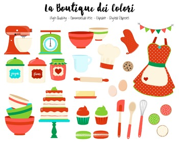 Cute cooking clipart clipart library stock Christmas Baking Clipart - PNG Cute Clip Art Graphics - For Small  Commercial Use clipart library stock
