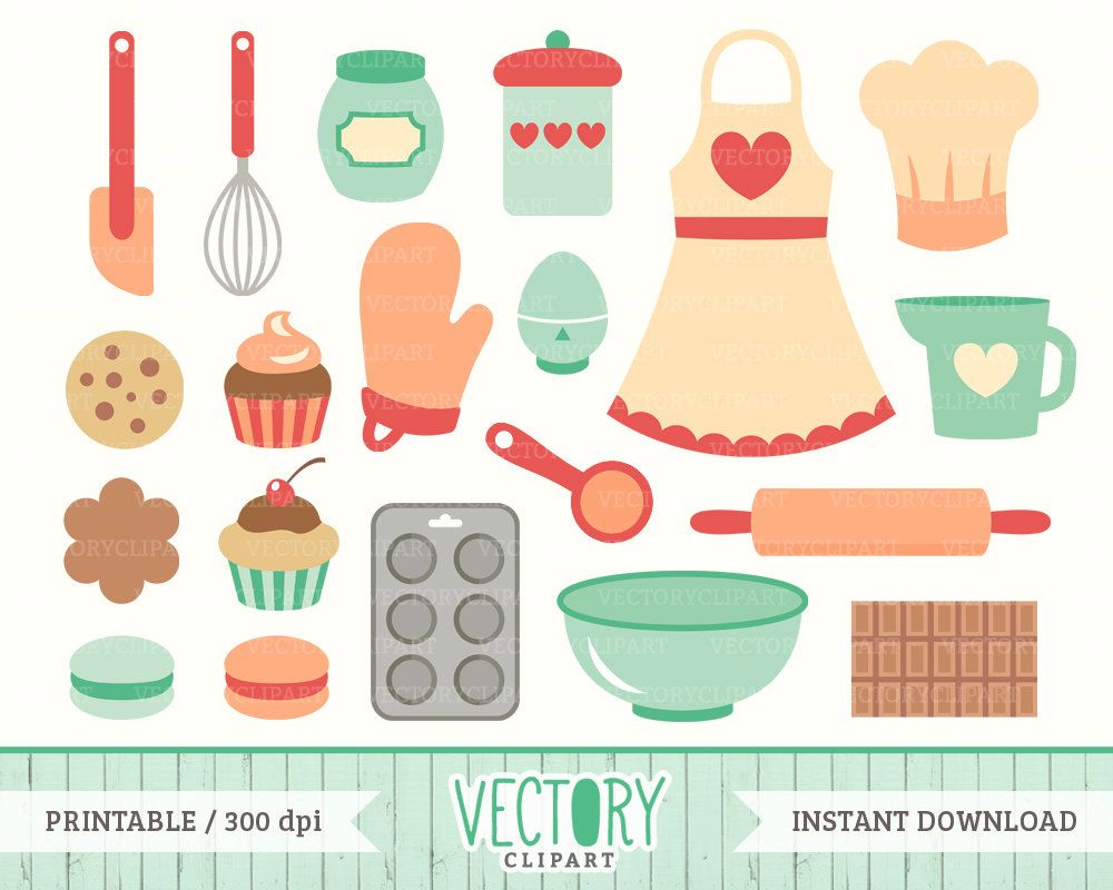 Cute cooking clipart vector library Cute Baking Clip Art | 20 Baking Clip Art Kitchen Clipart Cooking ... vector library