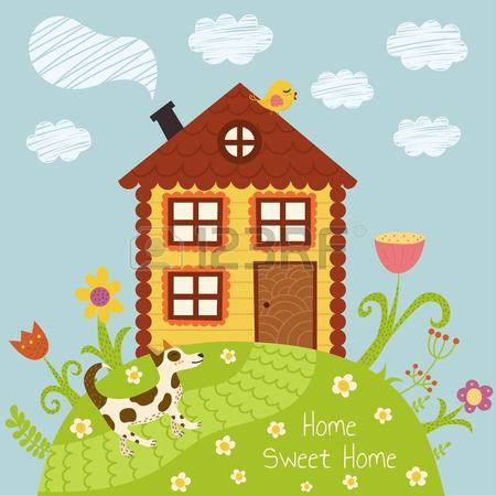 Cute country home sweet home clipart free download Stock Photos and Royalty Free Images from 123RF Stock Photography free download