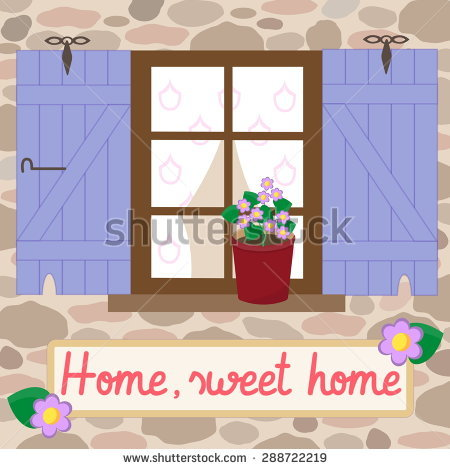 Cute cuntry home sweet home clipart picture library Stock Images similar to ID 80501497 - cute little house picture library