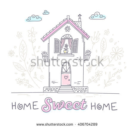 Cute cuntry home sweet home clipart clip art transparent library Country Home Stock Vectors, Images & Vector Art | Shutterstock clip art transparent library
