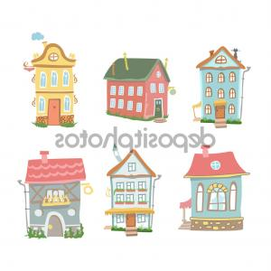 Cute cuntry home sweet home clipart clip freeuse stock Royalty Free Stock Photo Home Sweet Home Cartoon Houses Postcard ... clip freeuse stock