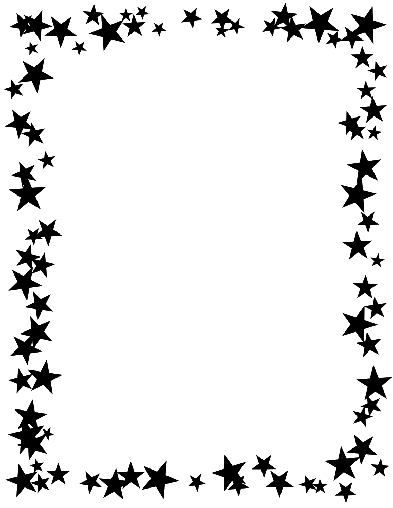 Free christmas borders clipart black and white kids jpg library download Free Printable Star Border | Black and White, high contrast stars ... jpg library download