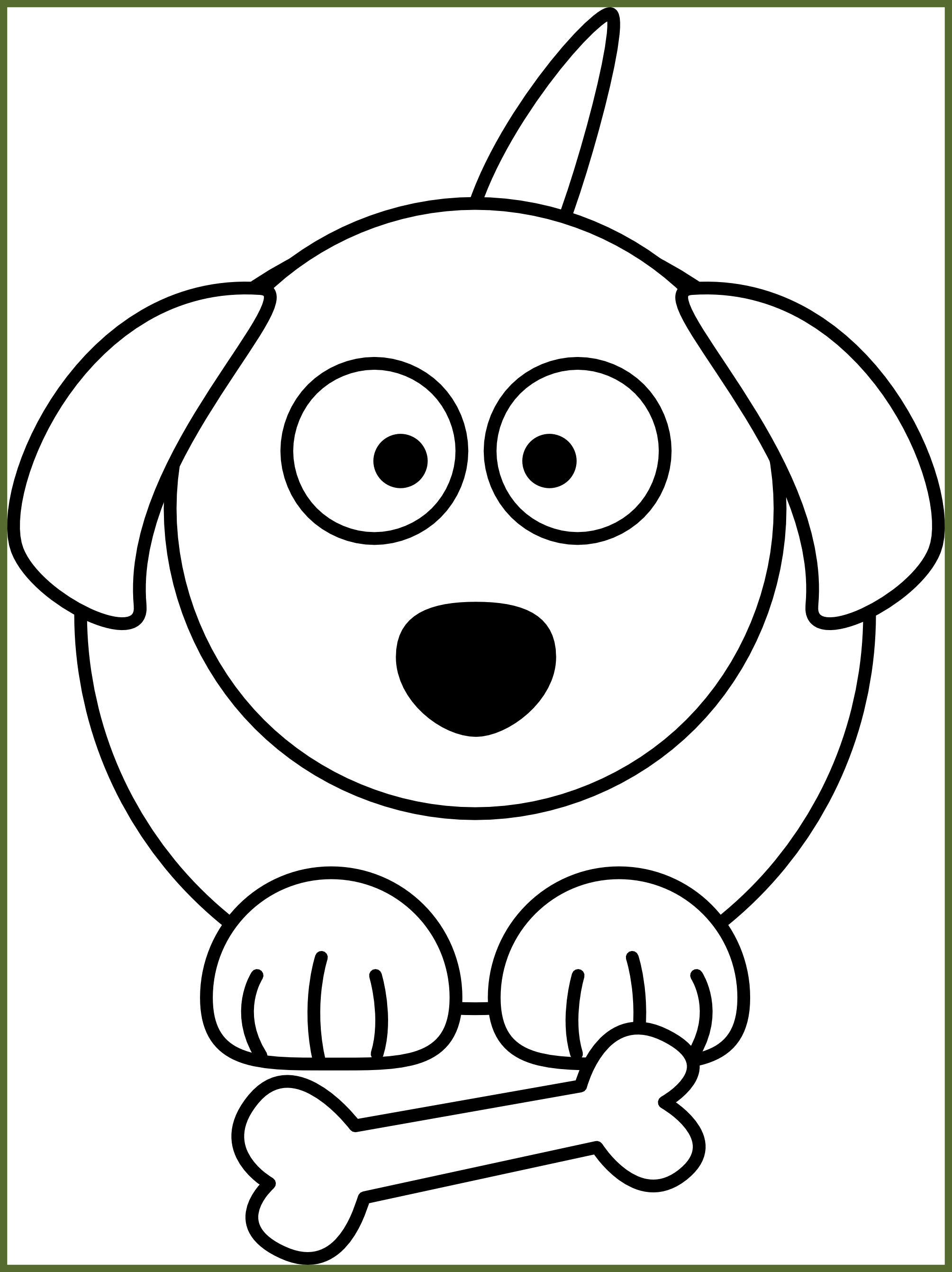Best clip art for. Dog bowl clipart black and white