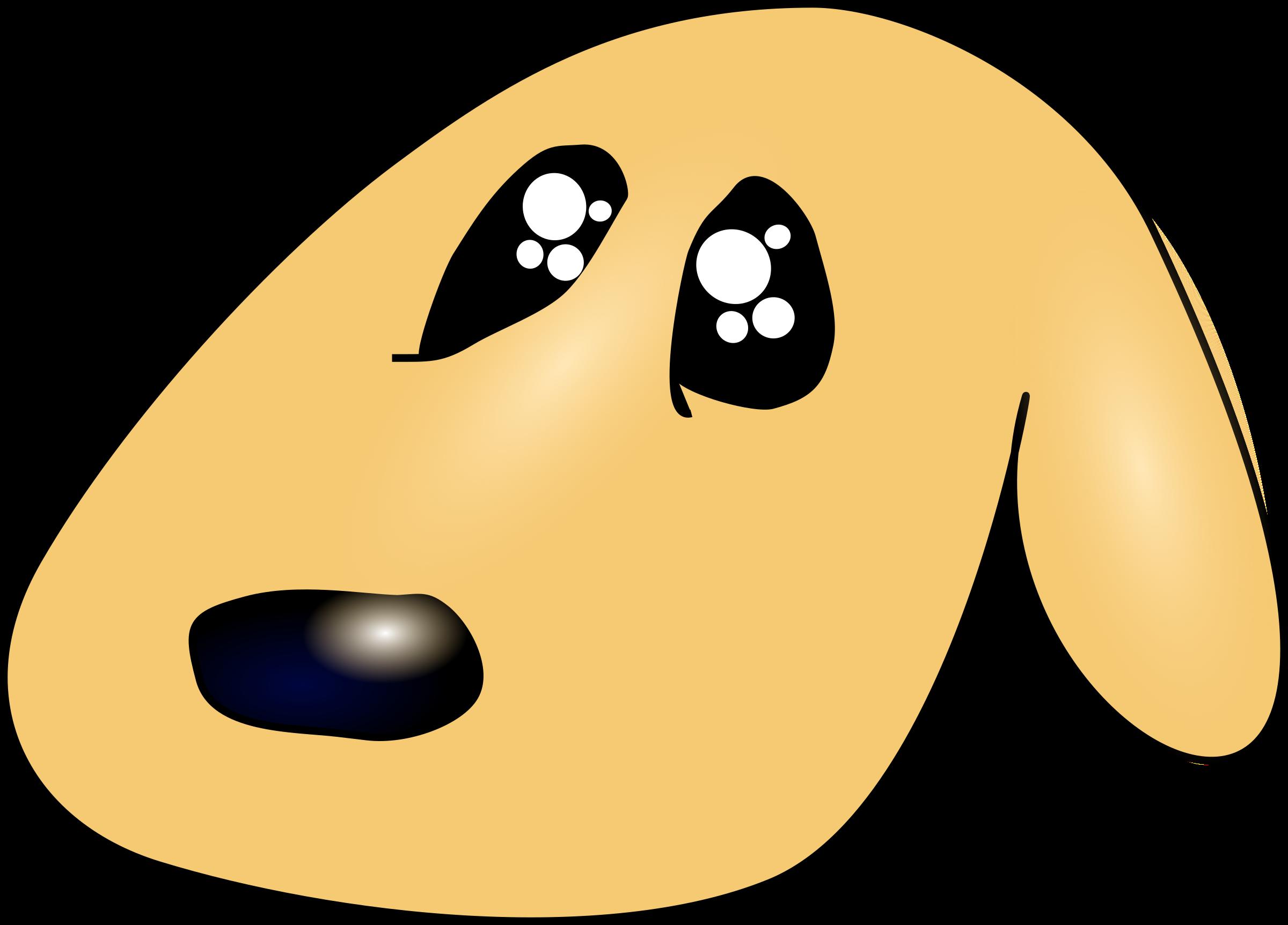 Cute dog face clipart graphic transparent download Clipart - Cute sad dog graphic transparent download