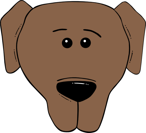 Face cartoon world label. Dog mask clipart