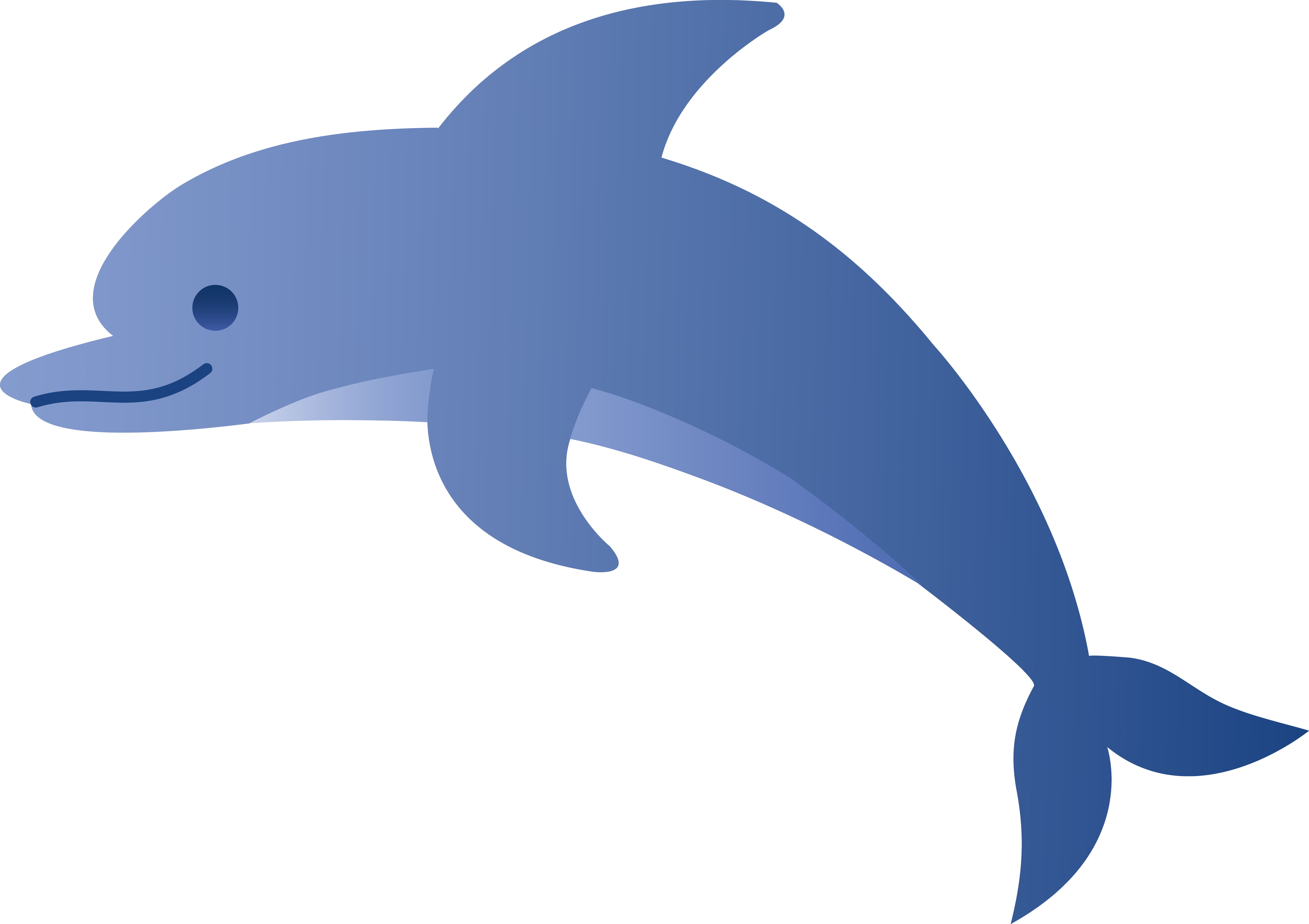 Cute dolphin clipart image black and white 82+ Cute Dolphin Clipart | ClipartLook image black and white