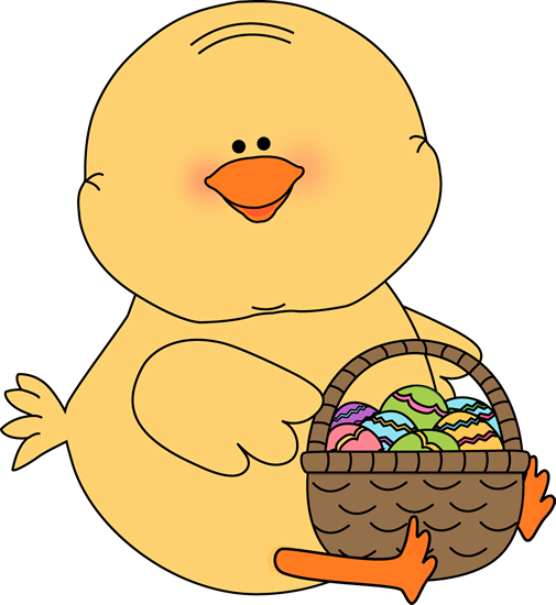 Cute easter basket clipart picture royalty free Easter Chick Clip Art - Easter Chick Images picture royalty free