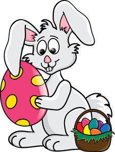 Cute easter basket clipart image download Easter Bunny Clipart Image - Clip Art Illustration of a Cute ... image download
