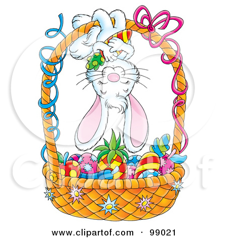 Cute easter basket clipart clipart library stock Royalty-Free (RF) Clipart Illustration of a Cute Easter Bunny ... clipart library stock