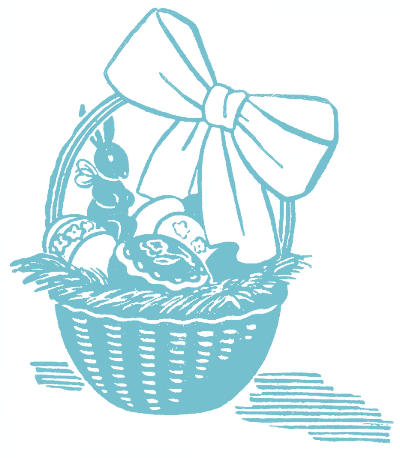 Cute easter basket clipart svg royalty free Stock Images - Retro - Easter Baskets - The Graphics Fairy svg royalty free