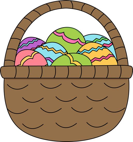 Cute easter basket clipart vector freeuse download 17 Best images about CLIP ARTS on Pinterest | Big easter eggs ... vector freeuse download