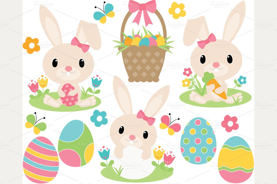 Cute easter bunny clipart jpg freeuse stock Free Cute Easter Cliparts, Download Free Clip Art, Free Clip Art on ... jpg freeuse stock