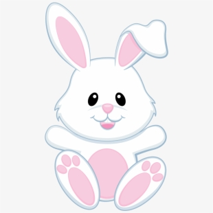 Cute easter bunny clipart banner black and white library Easter Bunny Clipart Transparent Background - Cute Cartoon Easter ... banner black and white library
