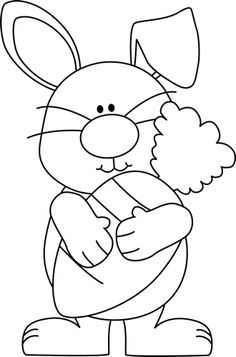 Easter bunny clipart black and white 5 » Clipart Station clipart