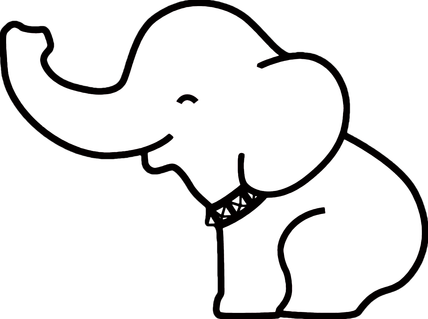 Elephant and piggie trunk clipart pumpkin png black and white Elephant Baby Drawing at GetDrawings.com | Free for personal use ... png black and white