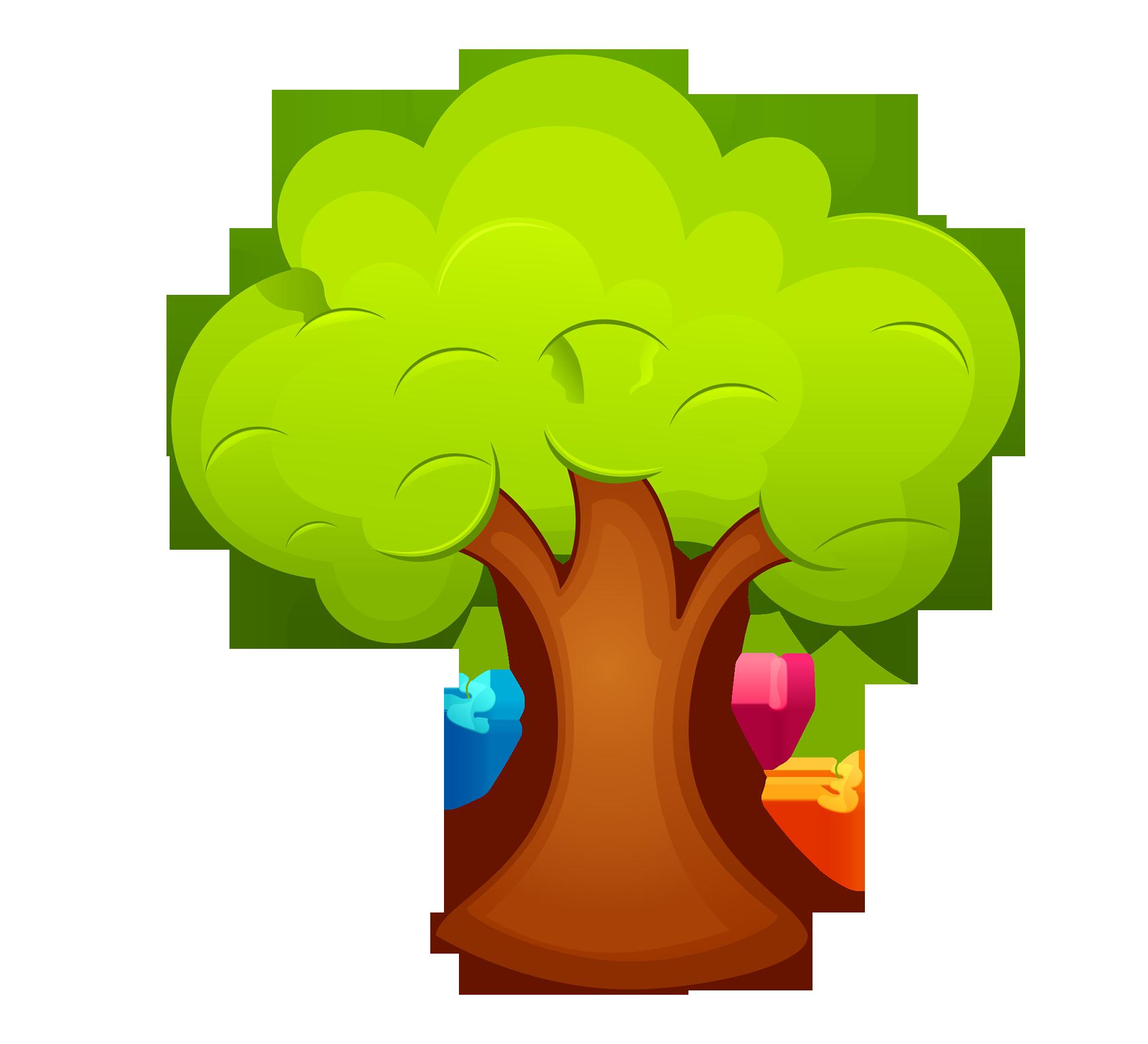 Cute fall tree clipart png black and white stock Cartoon Clip art - Cute cartoon trees 1841*1675 transprent Png Free ... png black and white stock