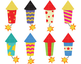 Cute firecracker clipart