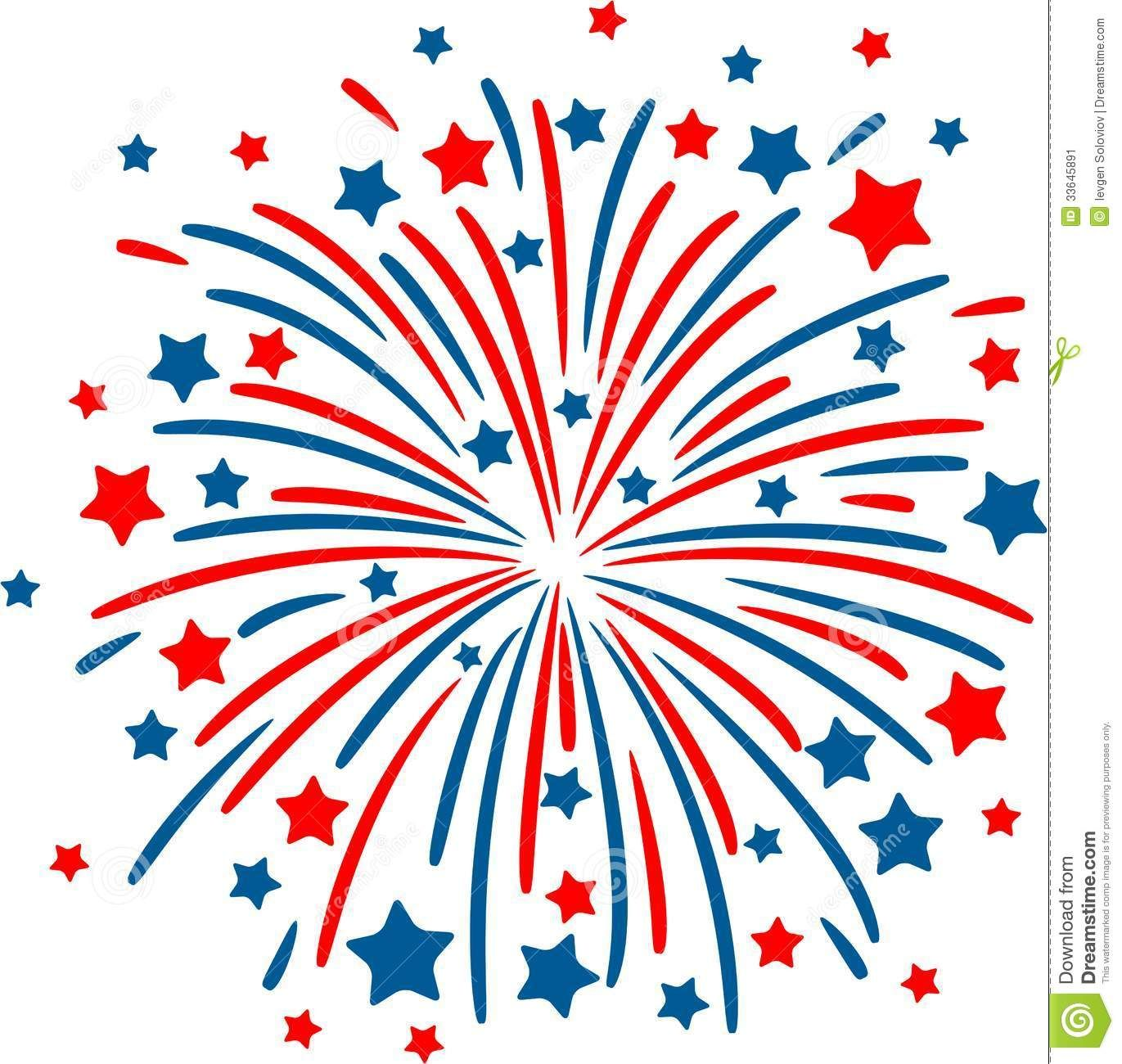 Free clipart fourth of july clip black and white Fireworks Clipart No Background | Clipart Panda - Free Clipart ... clip black and white