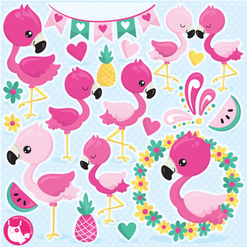 Cute flamingo clipart svg library stock Flamingo clipart commercial use, vector graphics - CL1059 svg library stock