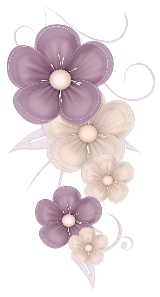 Cute flower clipart png library library Cute Flowers Decor PNG Clipart Picture | Színes brushok | Pinterest ... png library library