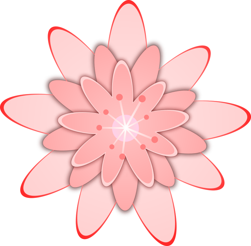 Peach flower clipart svg black and white stock Clipart - Pink Flower svg black and white stock