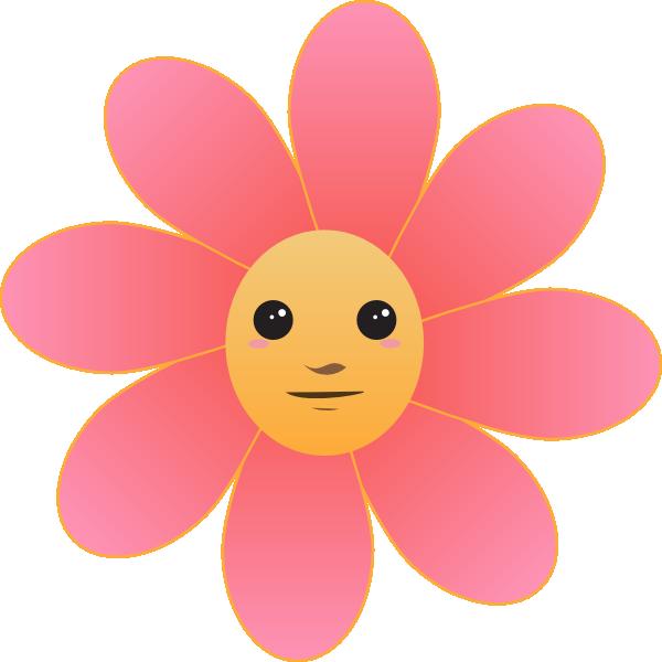 Cute flower clipart transparent Cute Flower Face Clip Art at Clker.com - vector clip art online ... transparent