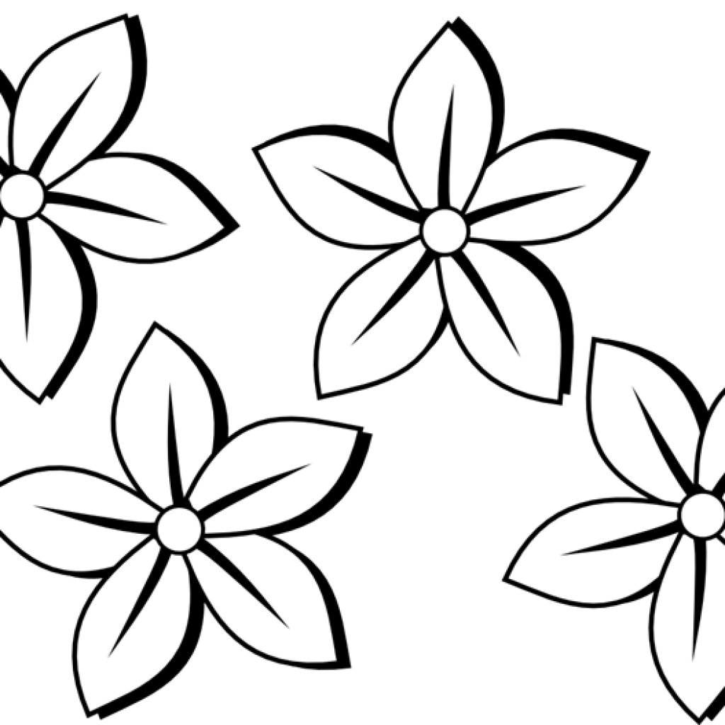 Cute flower clipart black and white svg transparent download Flower Clipart Black And White birthday clipart hatenylo.com svg transparent download