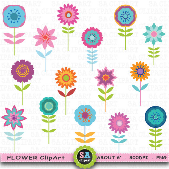 Cute flower cliparts transparent Flower Clipart \